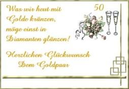 Grußkarten Goldene Hochzeit