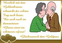 Grusskarten Goldene Hochzeit