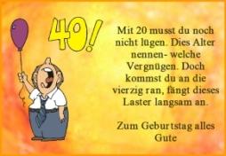 Lustige Grußkarten 40. Geburtstag